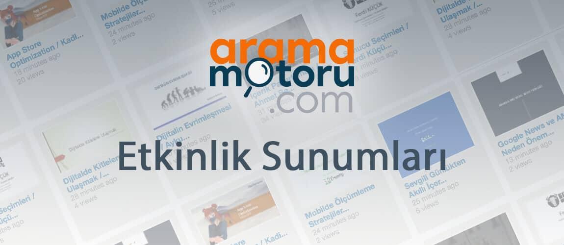Aramamotoru.com Etkinliği 2017 Sunumları