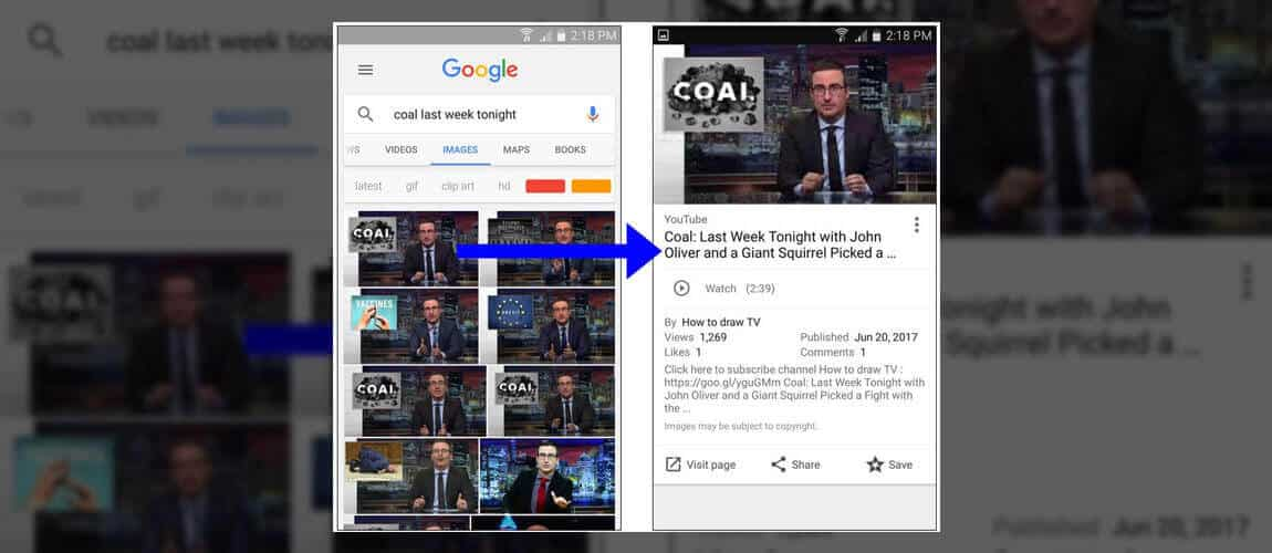 Google Görsellerde Video Arama Geliyor