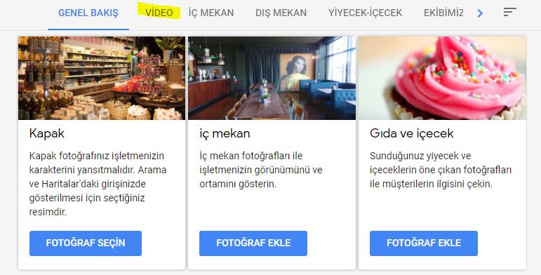 Google My Business Video Desteği