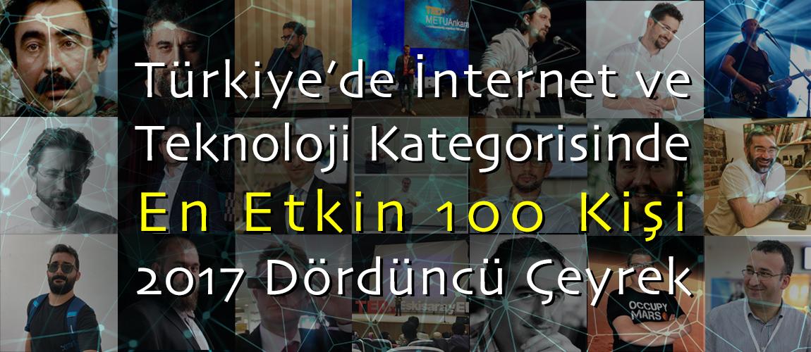 Türkiye'de İnternet ve Teknoloji Kategorisinde En Etkin 100 Kişi