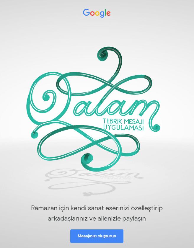 Google'dan Ramazan İçin Özel Hazırlık : Ramazan ve Bayram Tebrik Kartı
