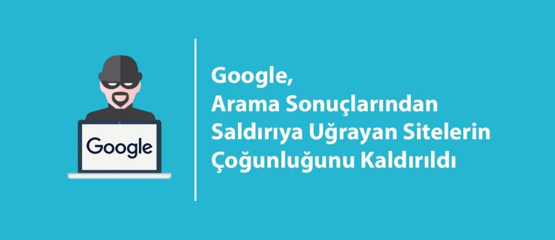 Google, Arama Sonuçlarından Saldırıya Uğrayan Sitelerin %80'ini Kaldırıldı