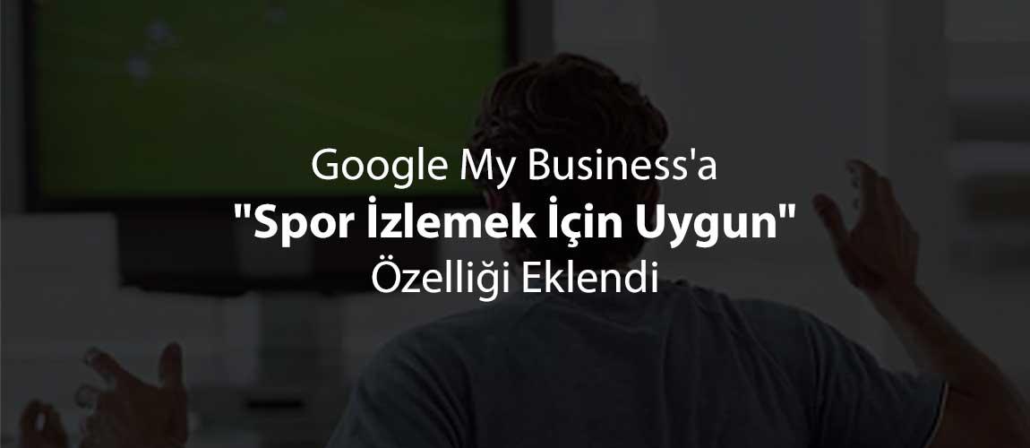 Google My Businessspor izlemek için uygun