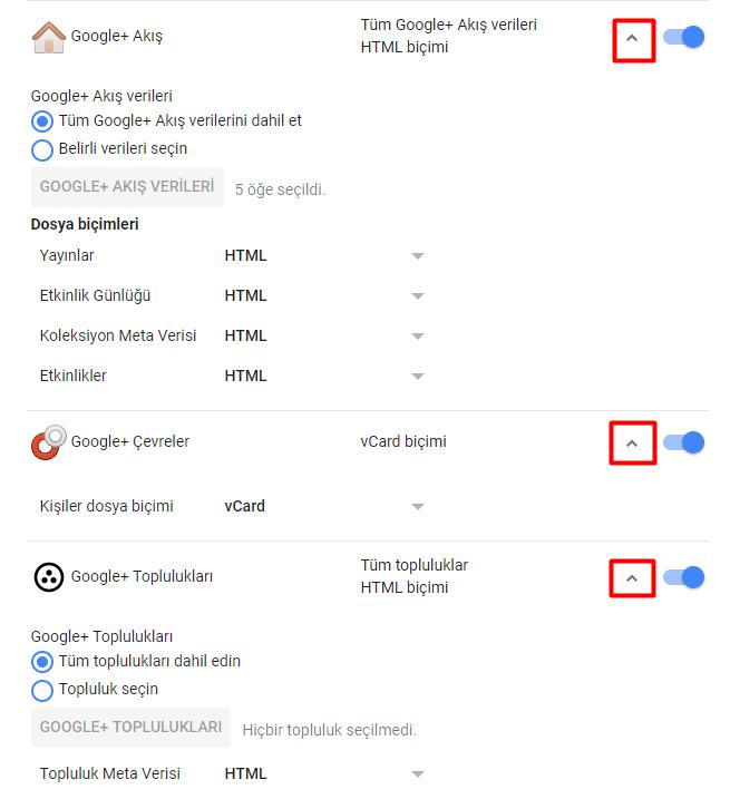 Google+ Verileri Nasıl İndirilir?