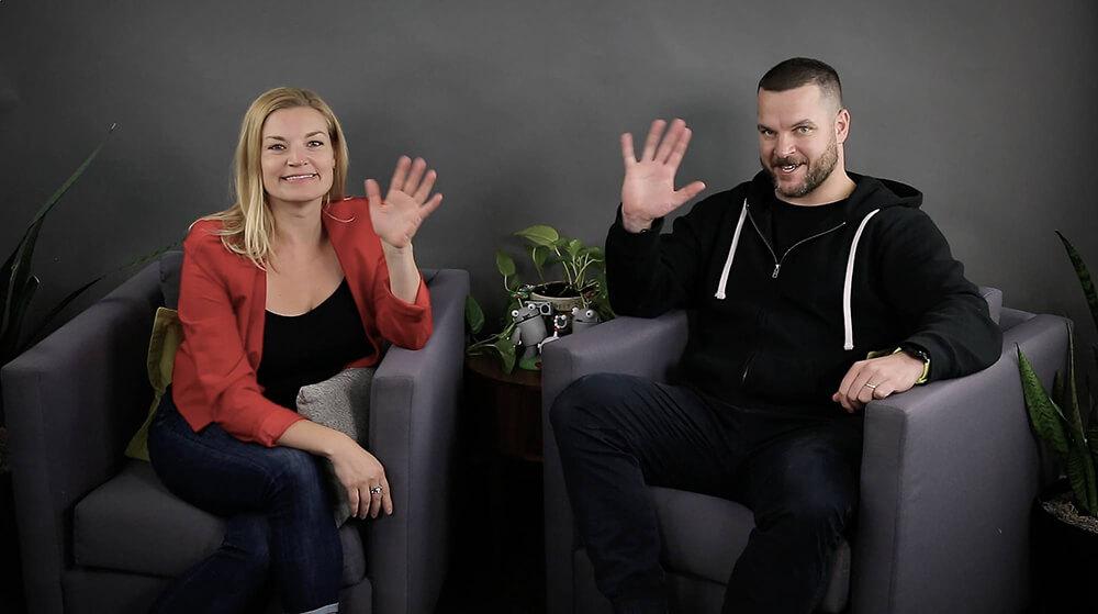 Moz CEO'su Sarah Bird ve STAT CEO'su Rob Bucci