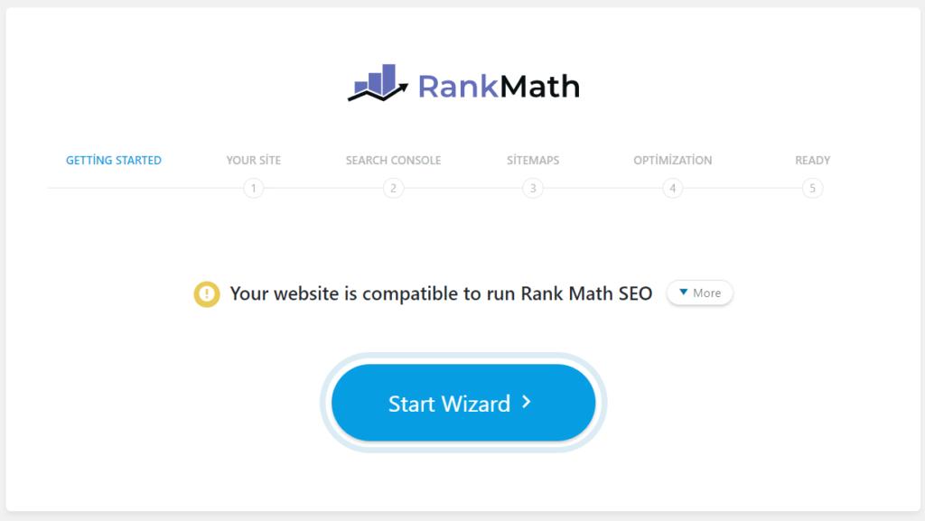 Rank Math SEO Kurulum Sihirbazı