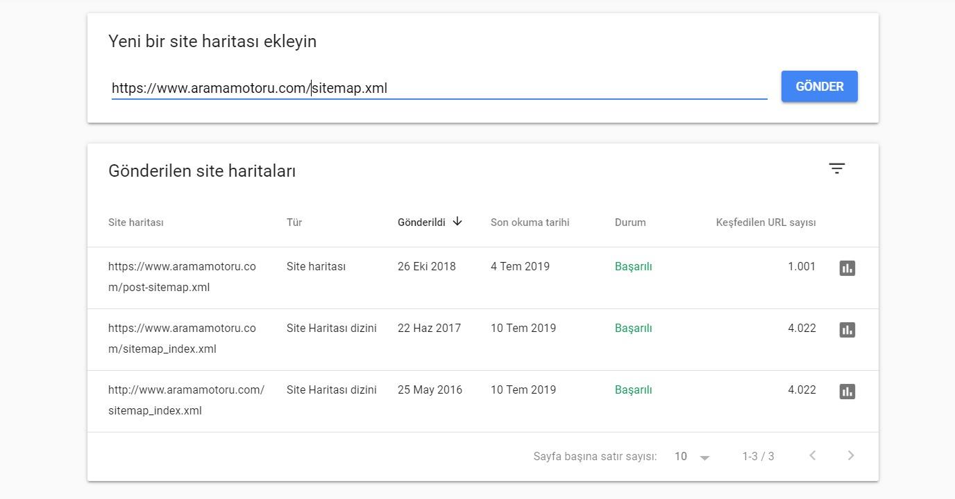 Google Search Console Site Haritası Ekleme