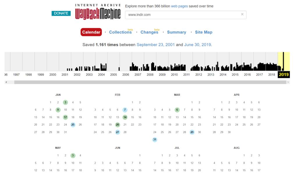 Wayback Machine, artık güncelleme sonrası değişiklikleri gösteriyor