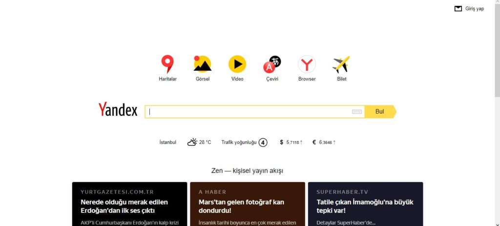 Yandex Arama Motoru