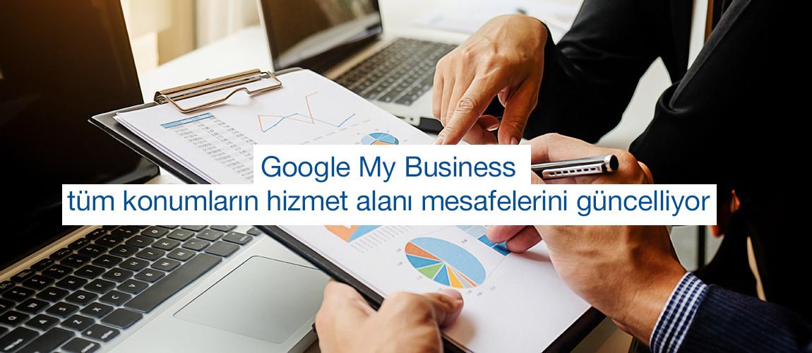 Google My Business mesafeye dayalı hizmet bölgeleri