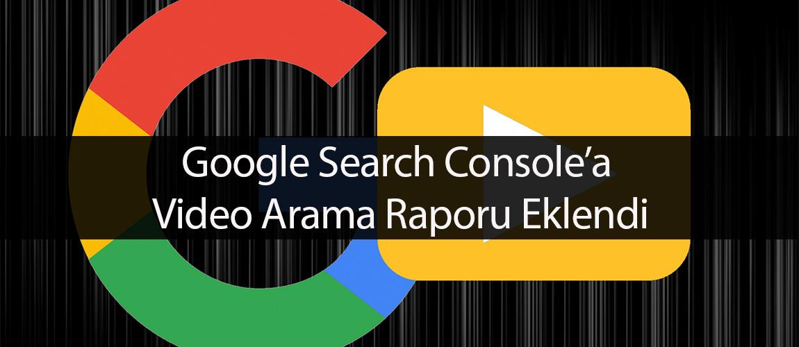 Search Console video arama sonuçları