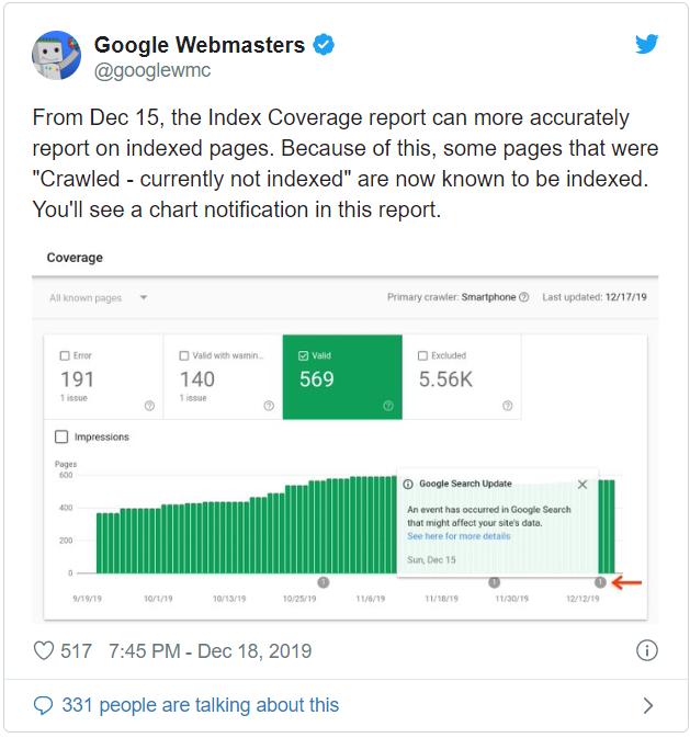 Google Search Console indekslediği sayfalar