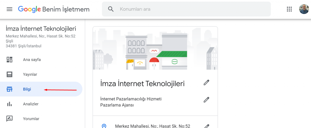 Google My Business Bilgi