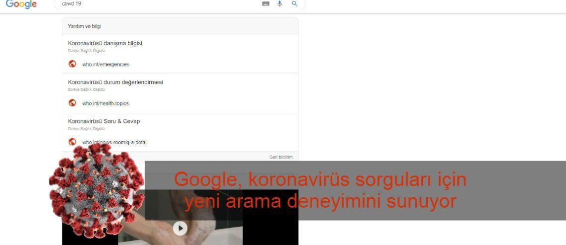 Google, koronavirüs sorguları için yeni arama deneyimini sunuyor