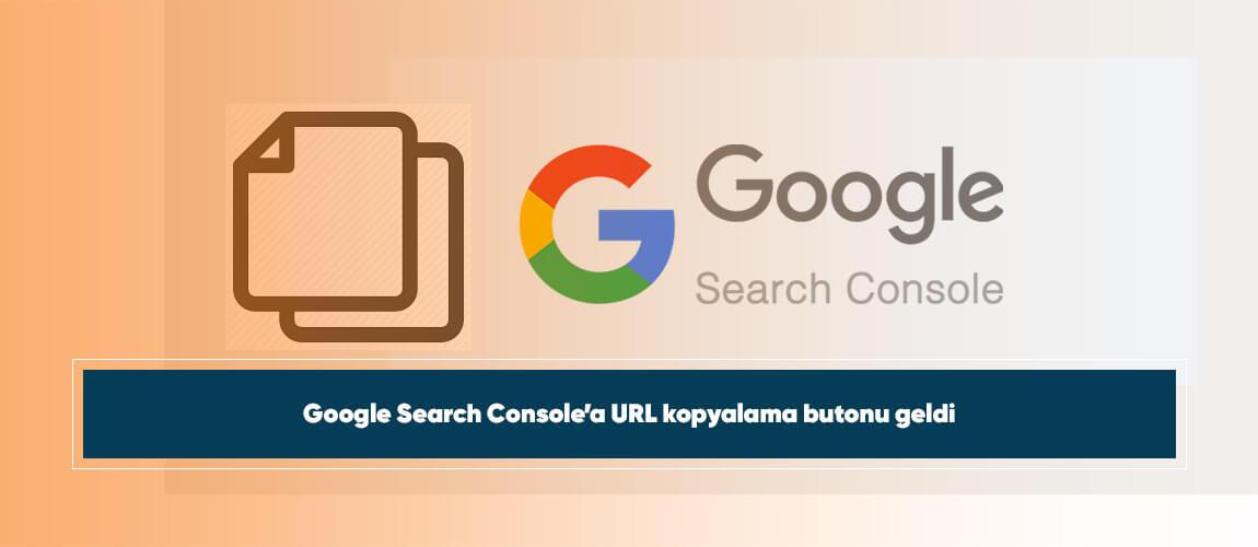 Google Search Console'a URL kopyalama butonu