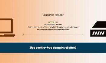 Use cookie-free domains çözümü