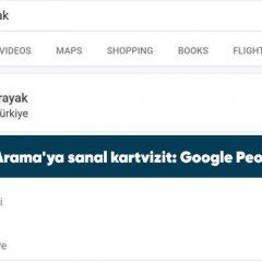 Google Arama'ya sanal kartvizit: Google People Card