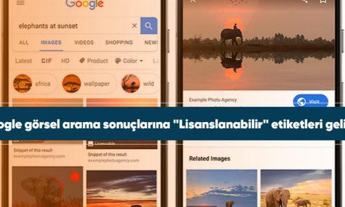 Google Fotoğraflar lisanslanabilir etiketi