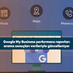 Google My Business performans raporları arama sonuçları verileriyle güncelleniyor
