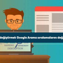 Tasarım değiştirmek Google Arama sıralamalarını değiştirebilir